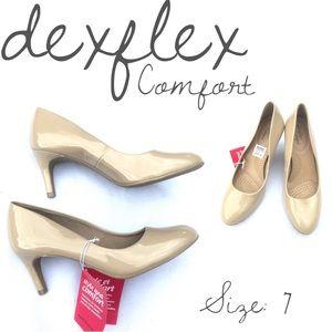 🍃🖤New Dexflex Comfort Round Toe Nude Karma Pump